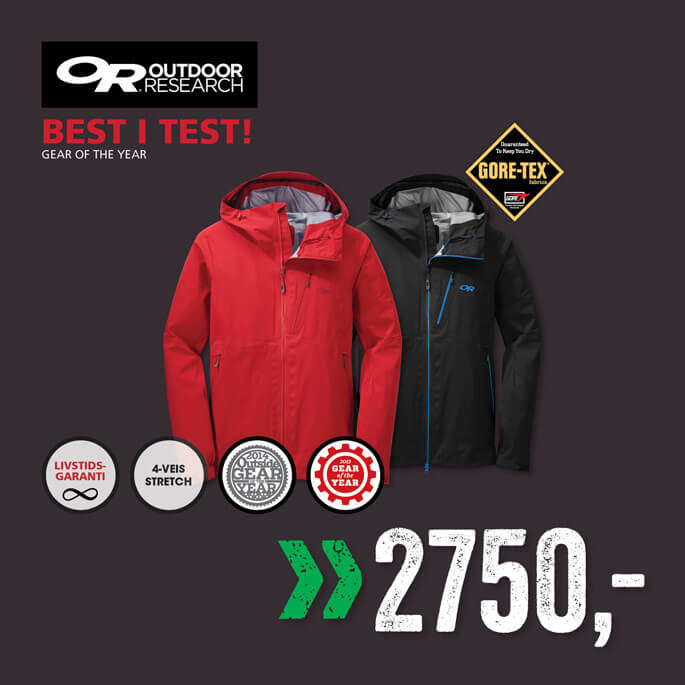 f95be56f Outdoor Research Toppmodell Gore-tex jakke