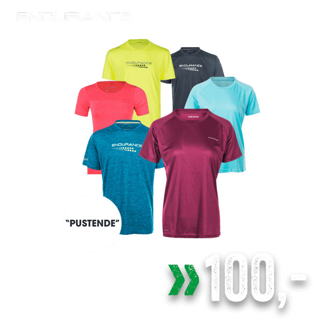 Endurance trenings t-shirt til dame, herre og junior