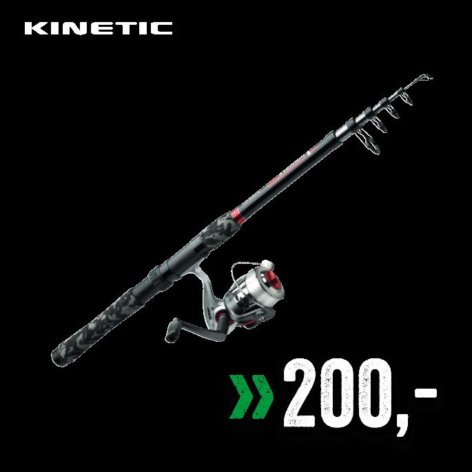 Kinetic Teleskopsett for ferskvann/lett sjøfiske. 4–20g