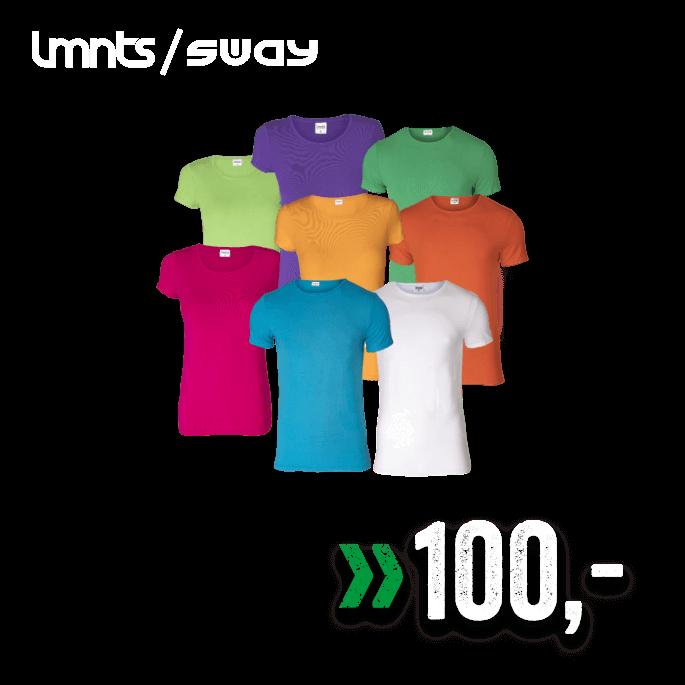 Lmnts / Sway Bambus t-skjorte til dame og herre