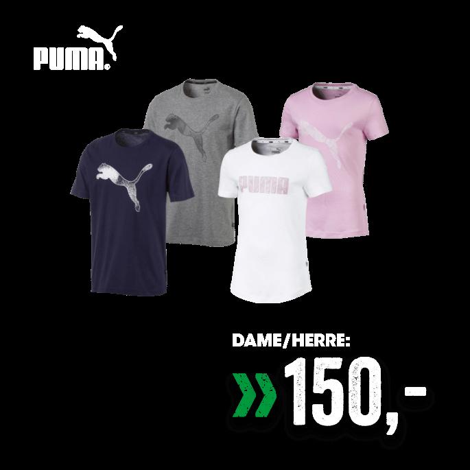 Puma T-skjorte til dame og herre