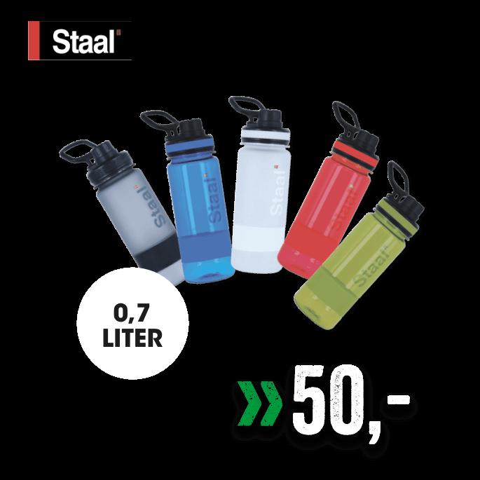Staal drikkeflaske 0,7 liter