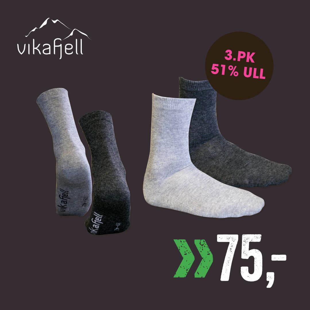 Voss Ullstrømpe Junior 3-pk.